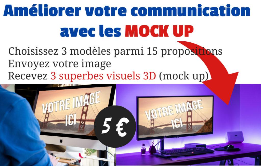 création de mock up visuel 3d